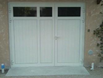 Porte de garage battante repliable pvc technic habitat aix marseille aubagne - Porte de garage battante ...