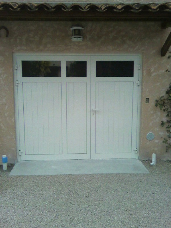 Porte de garage battante repliable pvc aubagne technic - Porte de garage battante ...
