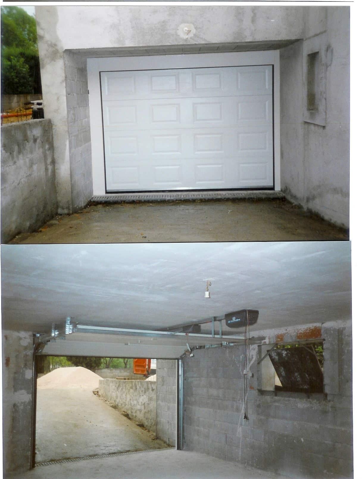 Porte de garage plafond télécommandé