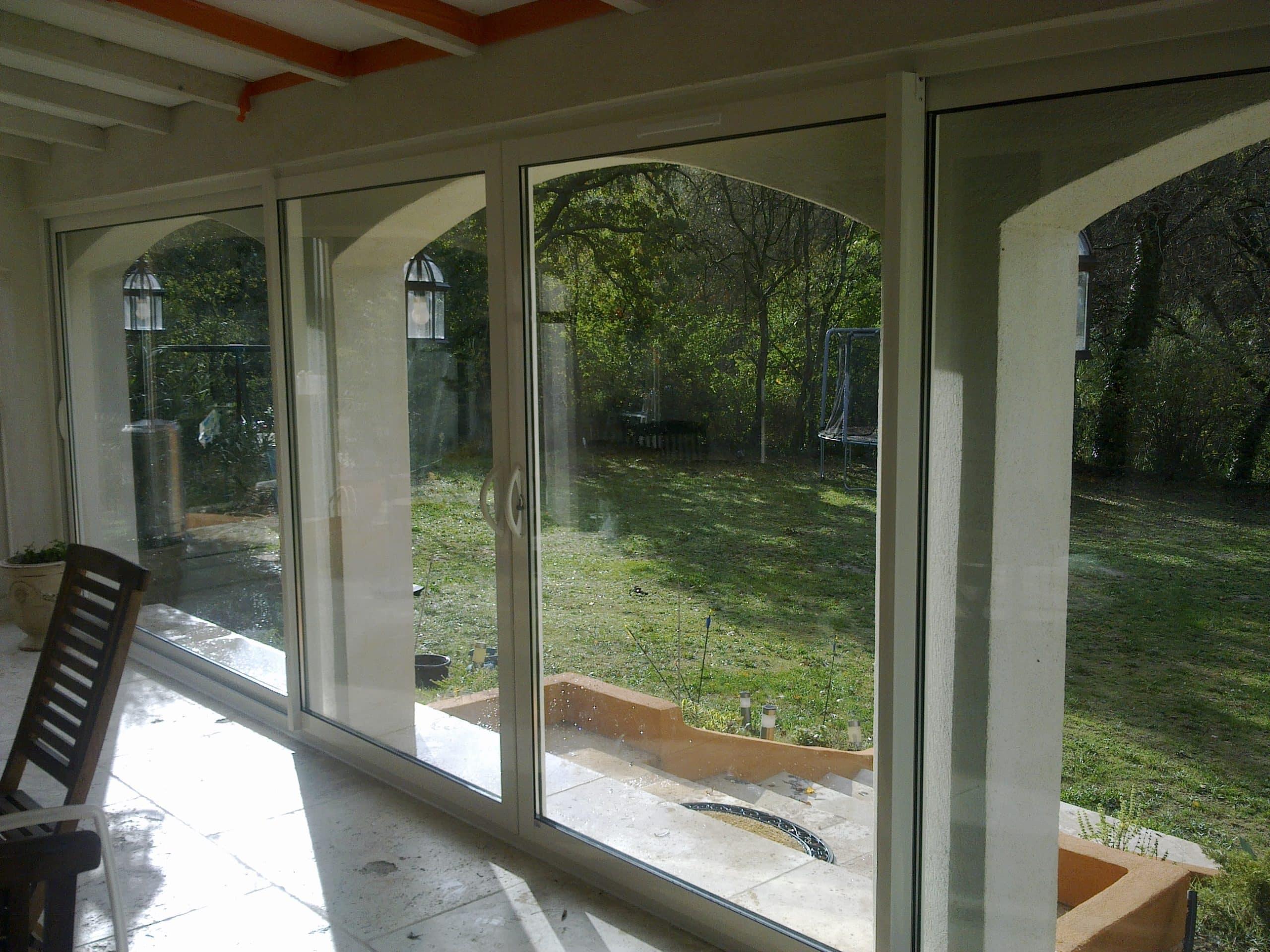 Fermeture de terrasse couverte