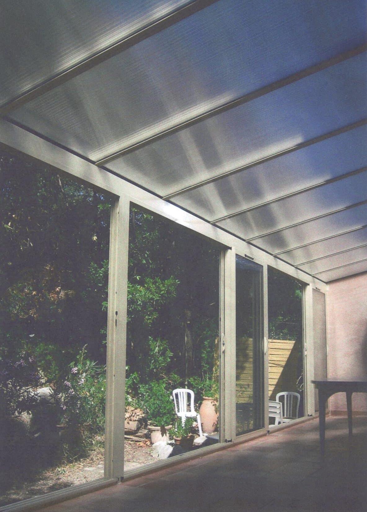 Véranda Alu Toiture polycarbonate Aluminium