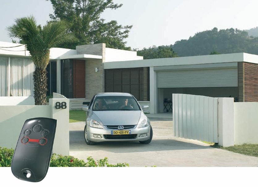 Somfy portail aluminium Alu motorisé distance télécommande