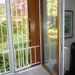 Fenêtre PVC bicolore Faux bois - Blanc