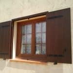 Fenêtre PVC et volet battant aluminium faux bois
