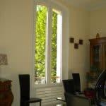 Fenêtre aluminium cintrée