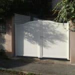 Portail aluminium plein
