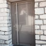 Porte aluminium panneau plein 3