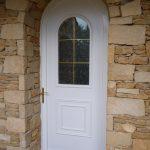 Porte pavillon PVC panneau décor cintrée